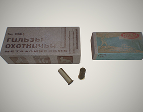 Hunting cartridges 3D model