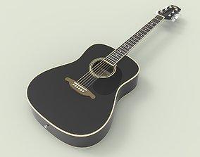 Acoustic guitar SX 3D model