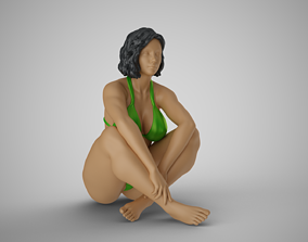 Woman Sit Cross Legged 3D printable model