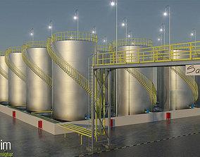 3d storage tanks 3D models