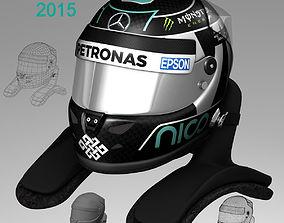 3D model Nico Rosberg Helmet 2015