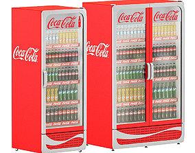Coca-cola coolers 3D