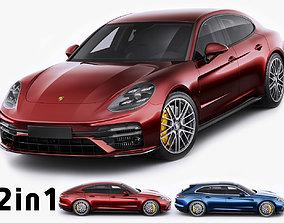 Porsche Panamera Turbo S and Sport Turismo 2021 3D