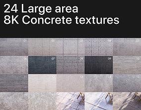 3D 8K Large area concrete textures pack Texture