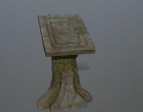lectern 3D model realtime