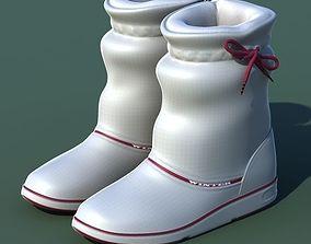3D Winter shoes 01 white purple