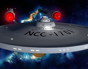 3D asset Starship USS Enterprise