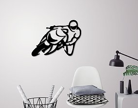 Motorbike racer wall decoration 3D printable model