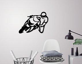 Motorbike racer wall decoration 3D printable model