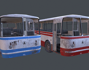 3D model Old Rusty Bus