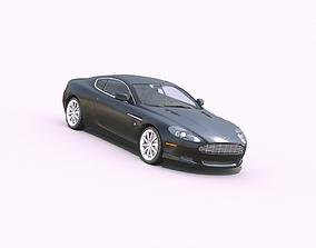 3D model low-poly Aston Martin DB9