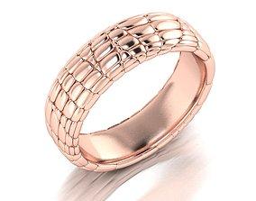 3D print model Ring Skin leather