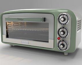 3D model rigged Vintage Oven