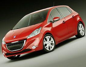 3D Peugeot 208 5 door
