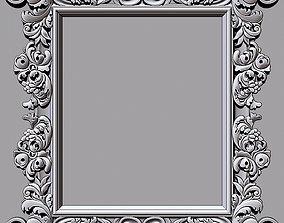 Mirror classical carved frame - set 3 3D print model