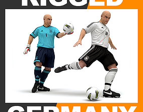 3D model Rigged Football Player and Goalkeeper - Germany 1