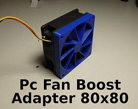PC Fan Pressure Boost Adapter 80x80x10mm 3D print model
