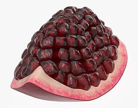 3D Pomegranate ripe slice