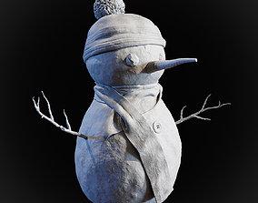 3D printable model carrot Snowman