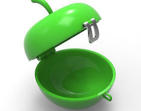 Apple Shaped Container 3D print model 3ddesign
