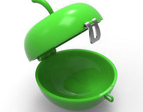 Apple Shaped Container 3D print model