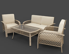 Tribeca Set Deep Seating Cushions 3D model