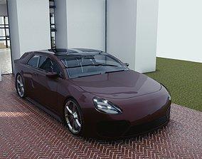 3D asset BLENDER EEVEE Brandless Small 2 door hatchback