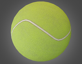 3D model game-ready desktop Tennis Ball