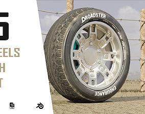 dusty modern sport car low 3d wheels realtime