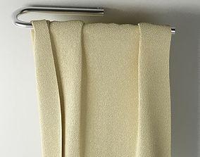 3D model Towel 01 cream colour