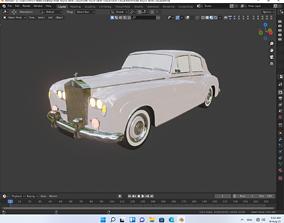 low-poly Rolls Royce Silver Cloud Car 3D Model Super