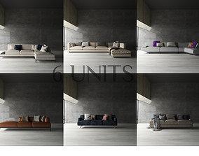 3D asset Sofa 6 Models Free
