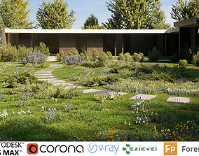Shrub collection - Include GrowFX and Mesh file 3D