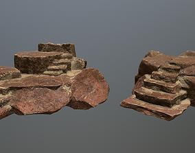 Altar Set 3D model low-poly