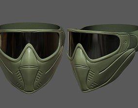 Mask helmet protection scifi military futuristic 3D asset