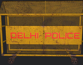 3D asset game-ready Police Barrier