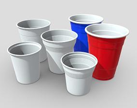 3D model Plastic Cup Pack