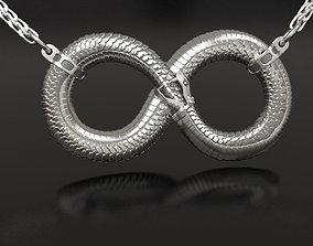 3D print model Infinity ouroboros pendant