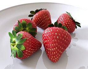 3D Strawberries fruit
