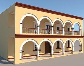 3D mexico Mexican House 2 Faces