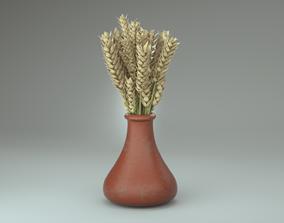 3D model Wheat in pot