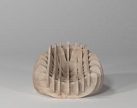 3D Parametric Wood Chair Design Bergere wooden