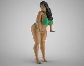 3D print model Woman at Pool