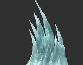 Low poly Sharp Ice Column 11 3D model