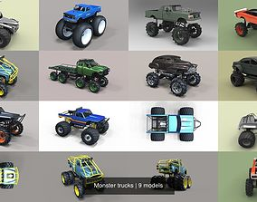 3D model Monster trucks