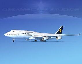 3D Boeing 747-8I Lufthansa
