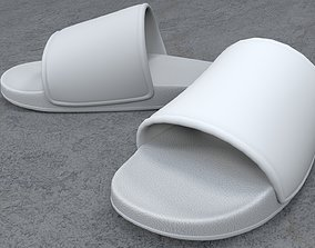 Pair of Sandal White 3D asset low-poly