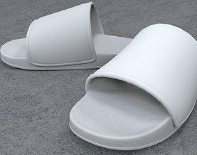 Pair of Sandal White 3D model