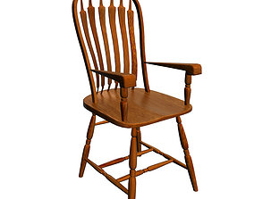 furniture 3D model Colonial chair