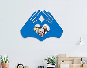 3D print model love hands photo frame